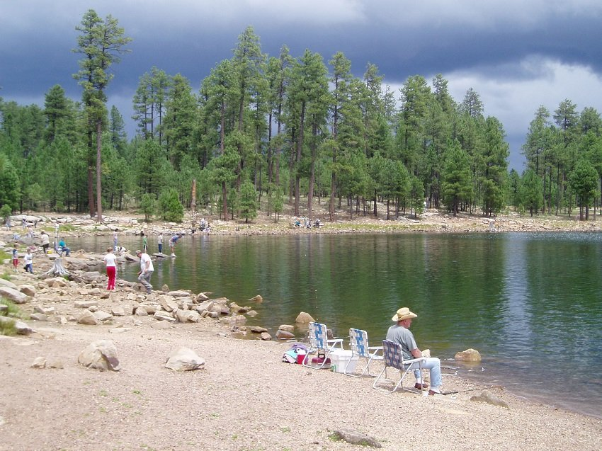 Willow Springs Lake. Best Trout Fishing In Arizona